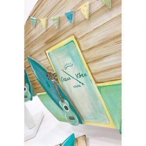 Χειροποίητο κουτί βάπτισης με θέμα τον ωκεανό για αγόρι
