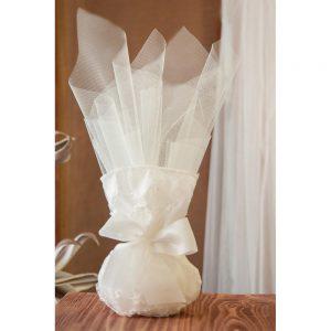 Mπομπονιέρα γάμου πουγκί δαντέλα