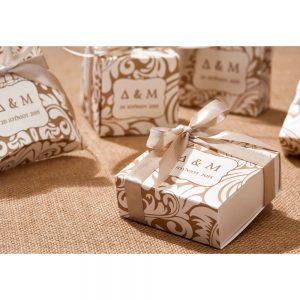 Χειροποίητο προσκλητήριο γάμου κουτάκι vintage