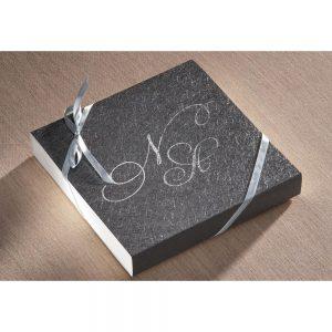 Χειροποίητο προσκλητήριο γάμου κουτάκι επικεχρισμένο
