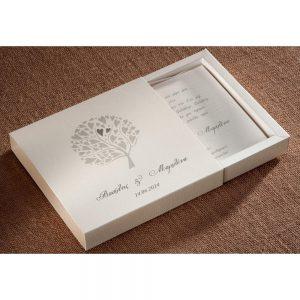 Χειροποίητο προσκλητήριο  γάμου κουτάκι με το δέντρο της Ζωής