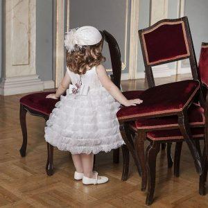 Βαπτιστικό φόρεμα εντυπωσιακά βολάν 6012-1 Dolce Bambini