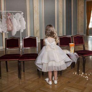 Βαπτιστικό φόρεμα από φίνο τούλι 6018-1 Dolce Bambini