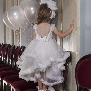 Βαπτιστικό φόρεμα από διάφανη πλάτη 6020-1 Dolce Bambini