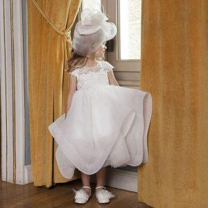Βαπτιστικό φόρεμα με ιδιαίτερη φούστα 6030-1 Dolce Bambini